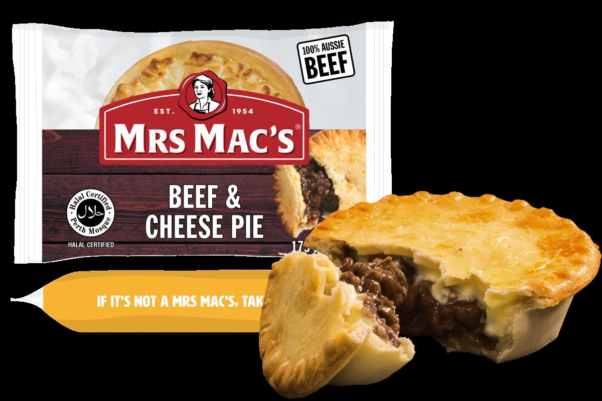 Halal Beef & Cheese Pie - Mrs Mac's
