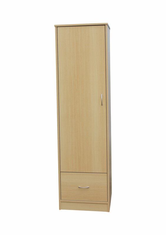 Bedroom Aged Care Denby 1 Door Wardrobe with Drawer