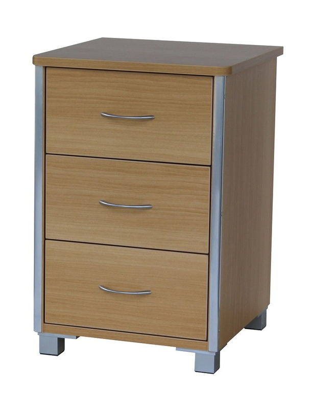 Bedroom Aged Care Beaumont 3 Drawer Bedside
