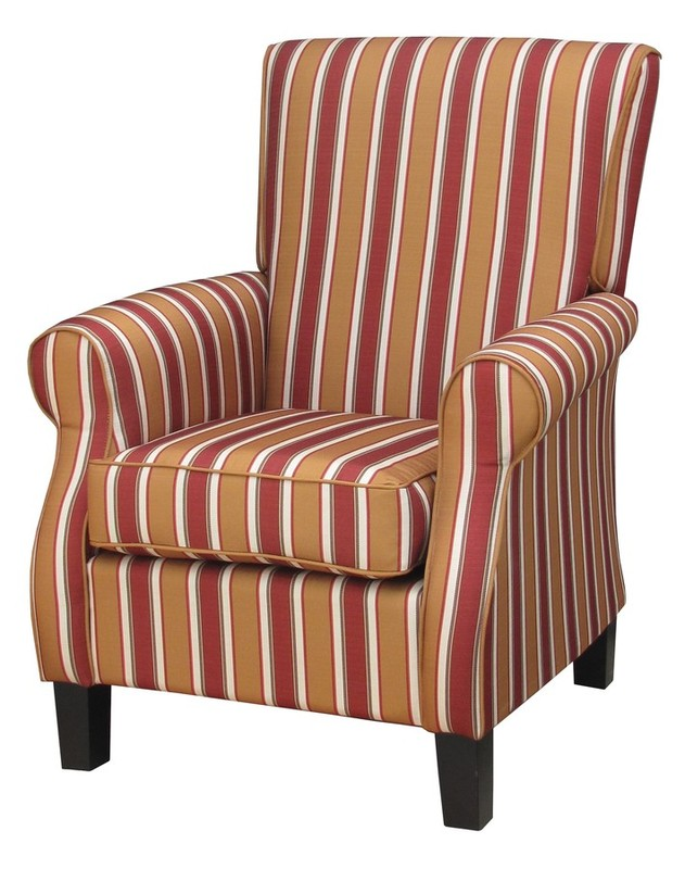 Lounge Aged Care Melanie Arm Chair Striped Fabric