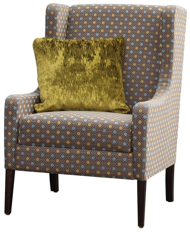Lounge Aged Care Retirement Bernadette Wing Chair with Cushion