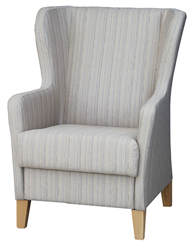 Lounge Aged care Retirement Albany Wing Chair Angled view