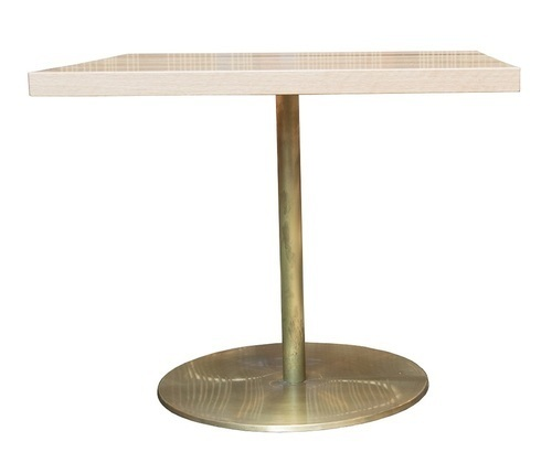 Retirement Dining Laurent Brass and Timber Table