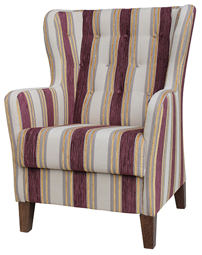 Aged Care Lounge Albany Wing Back Chair with Buttoning