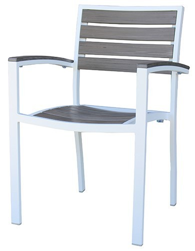 Agedcare Outdoor Sandy Arm chair, white frame