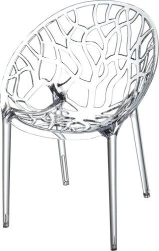 Dining Agedcare Retirement Crystal Chair, Clear