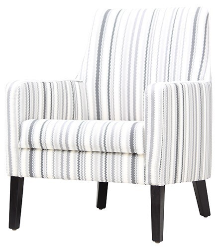 Retirement Lounge Wilbur Chair Grey Stripe
