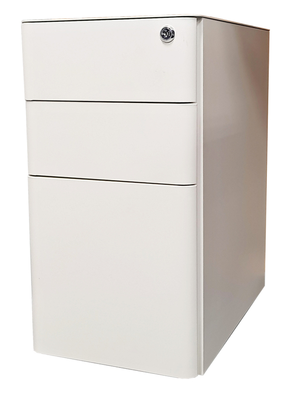 Office Aged Care Mini Mobile White Filing Cabinet