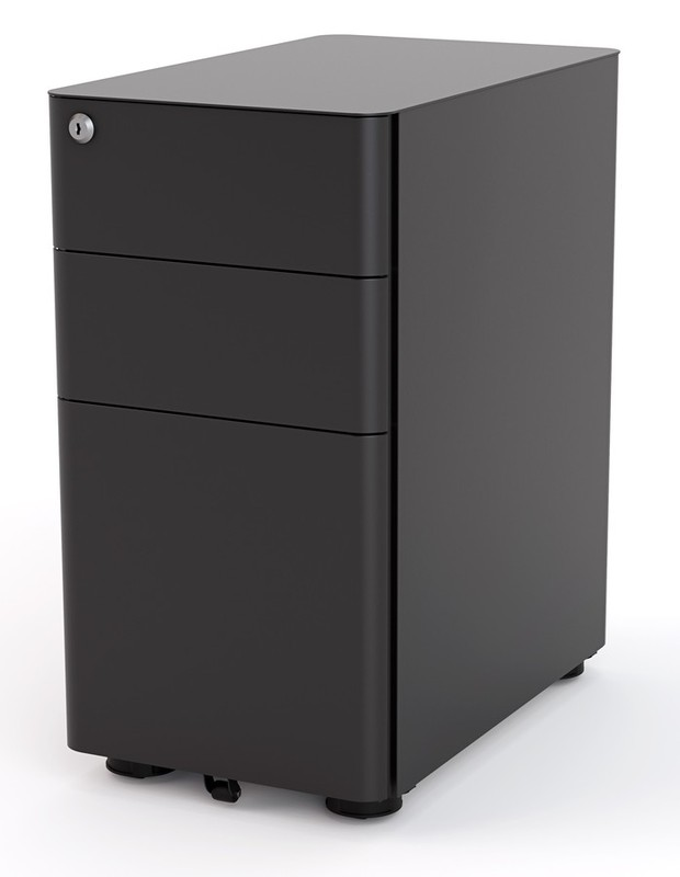 Office Aged Care Mini Mobile Black Filing Cabinet