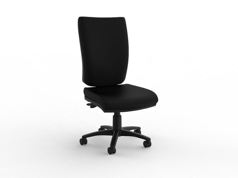 Office Aged Care and Retirement Klick Highback Chair Black PU