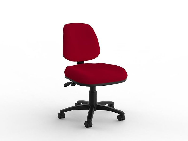 Aged Care Office Quad Midback Chair in Red