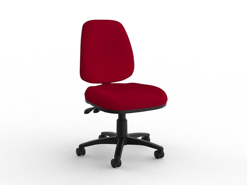 Aged Care Office Quad highback chair in red