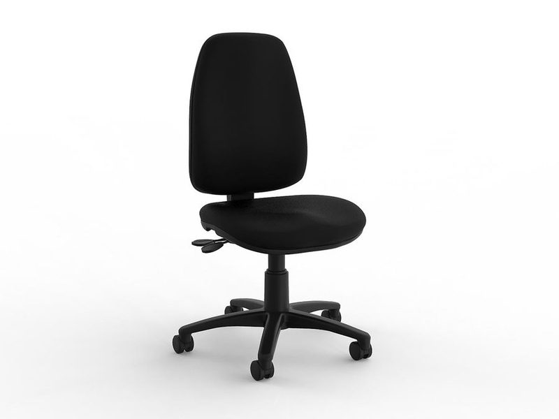 Aged Care Office Strauss Highback in Black pu