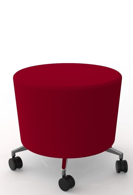 Aged Care Office Cookie Stool Red
