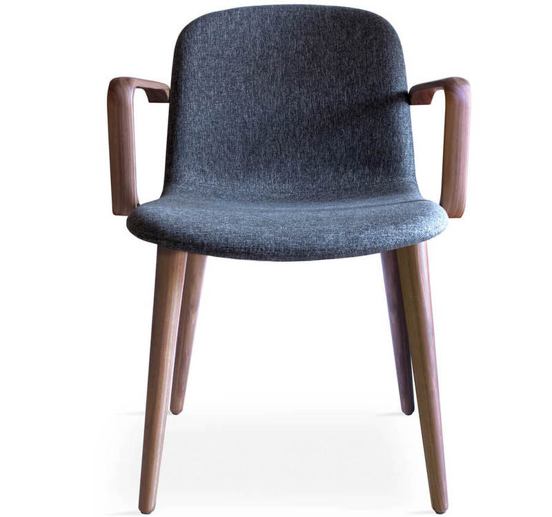 Retirement Dining Bacco Chair with Arms Front View
