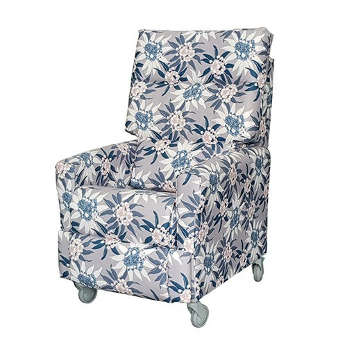 Aged Care Recliners York Recliner Floral Fabric