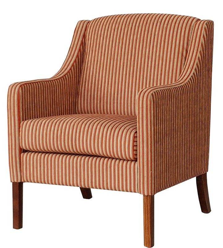 Lounge Aged Care Atlas Arm Chair Red striped fabric