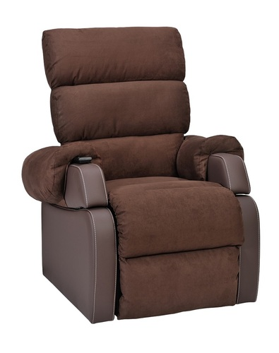 Agedcare and Retirement Patient Cocoon Lift Recliner Chair, velvet brown