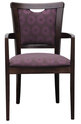 Dining Aged Care and Retirement Daisy Arm Chair Purple Fabric