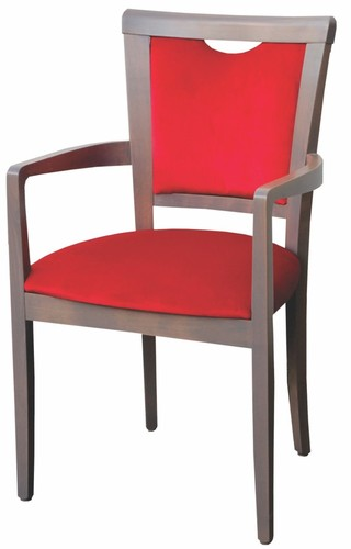Dining Aged Care and Retirement Daisy Arm Chair Red Fabric