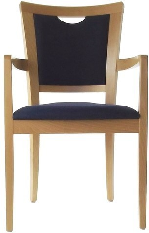 Dining Aged Care and Retirement Daisy Arm Chair Blue Fabric