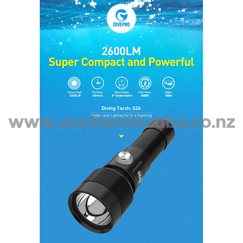 DivePro S26 2600 lm Super Compact Torch