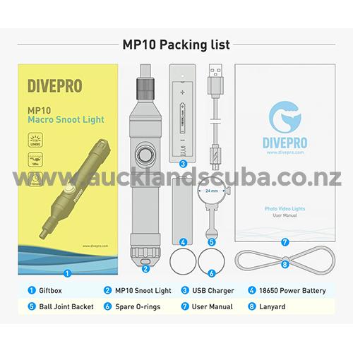 DivePro MP10 Snoot Light
