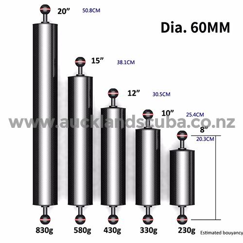 DivePro Carbon Fibre Floating Arm - 60mm Diameter x 10