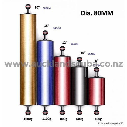 DivePro Carbon Fibre Floating Arm - 80mm Diameter x 20
