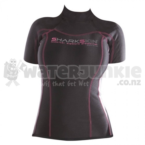 Womens Sharkskin Short Sleeve Chillproof