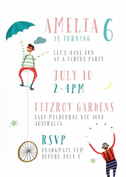 CUSTOM DESIGN  PERSONALISED DIGITAL KIDS Party INVITATION You choose the theme!