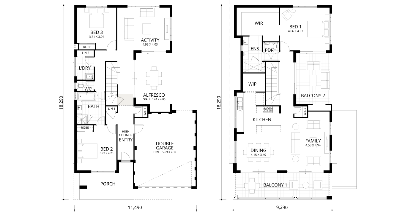 Floorplan for Byron Bay