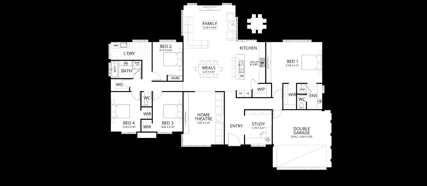 Floorplan for Meadows
