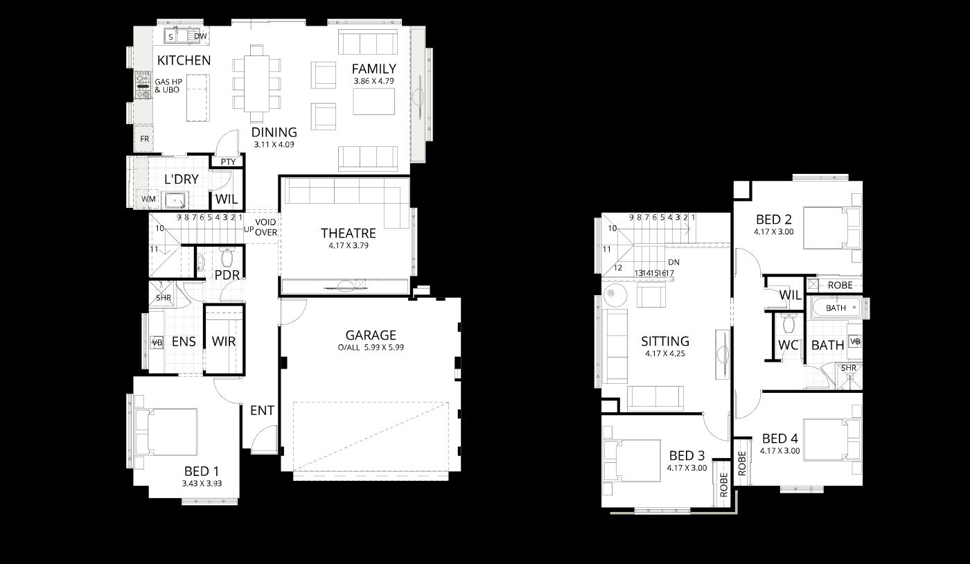 Floorplan for Santiago