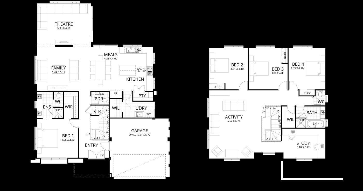 Floorplan for Yallingup