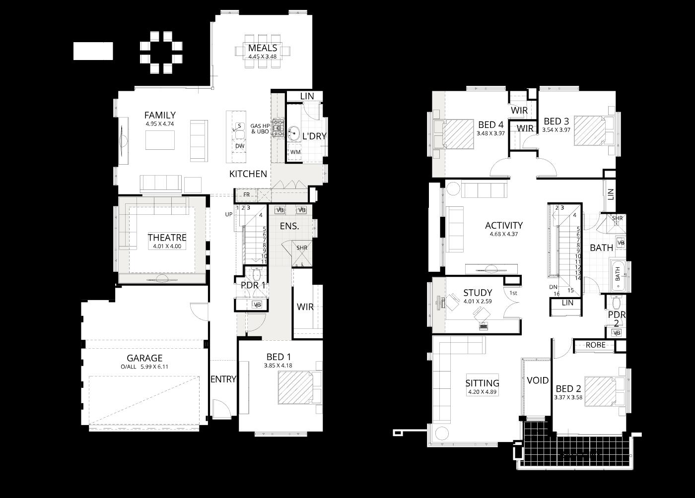 Floorplan for Encore