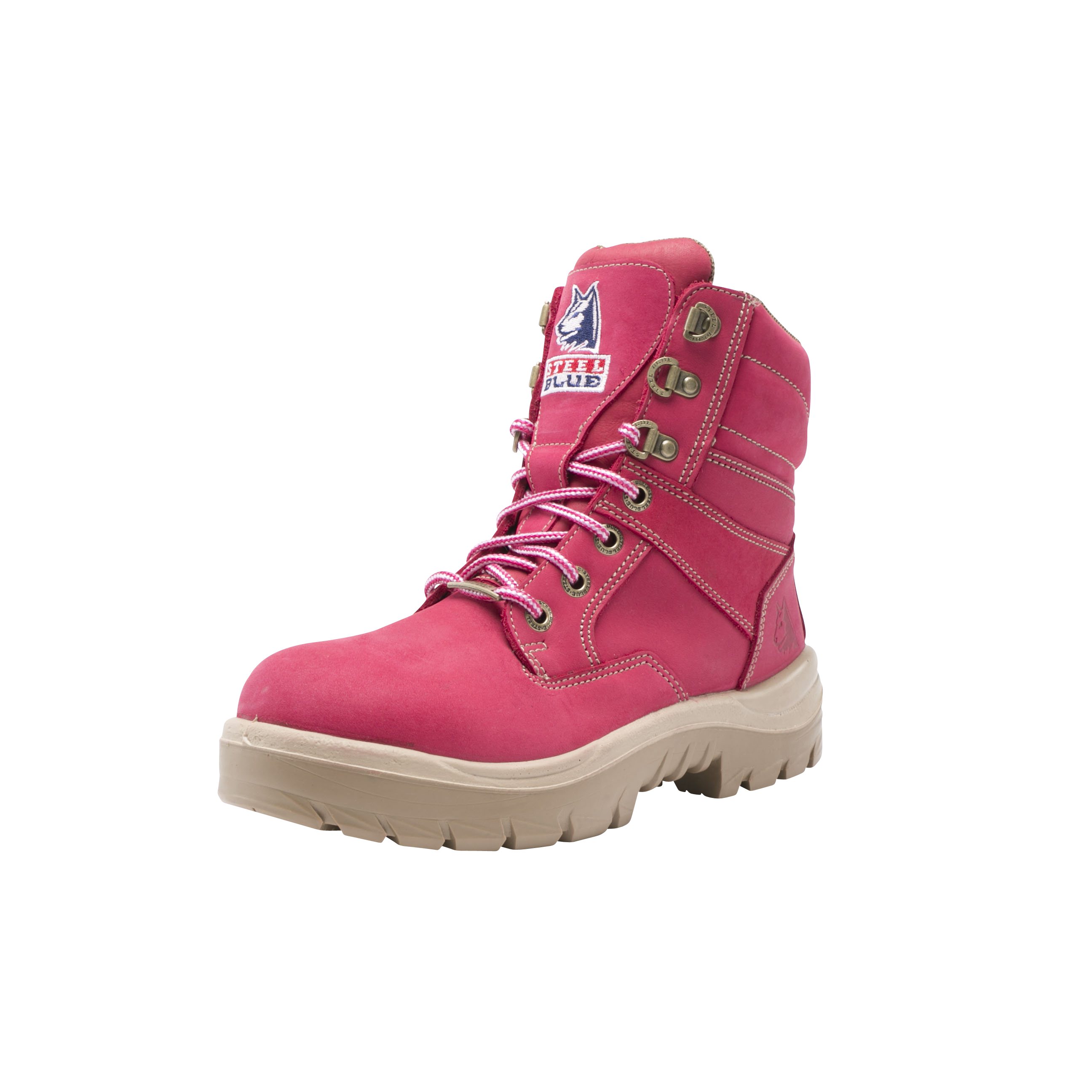 f4658e93d7a Southern Cross Pink Ladies Work & Safety Boots | Steel Blue NZ