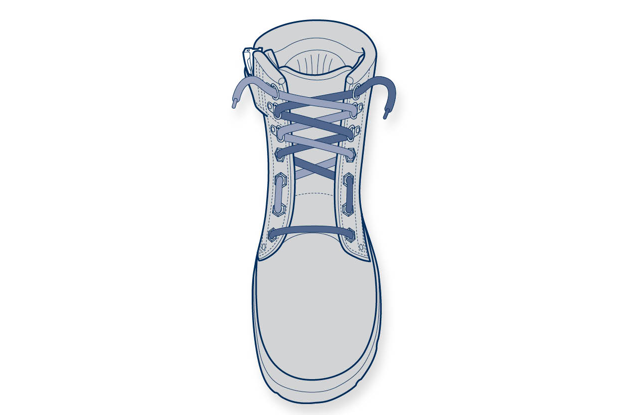 11910 Steelblue Lacing Guide – wide forefoot