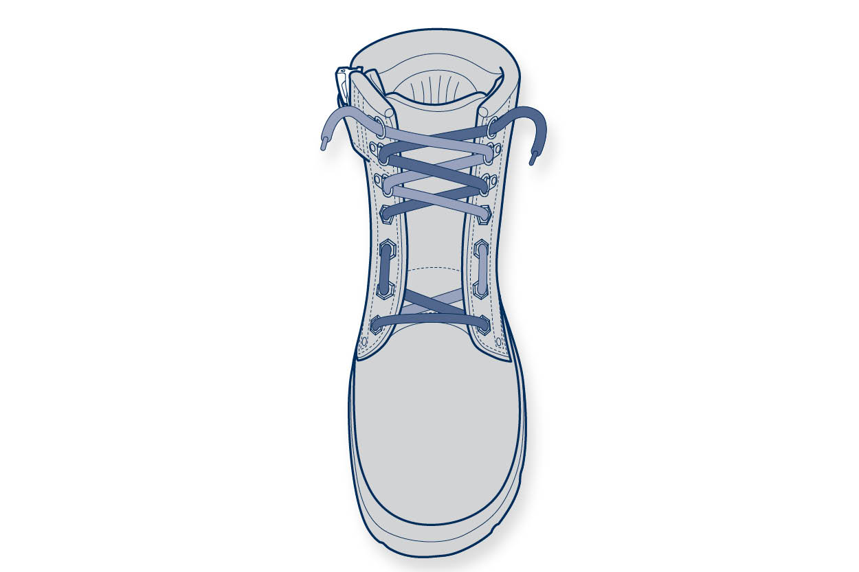 11910 Steelblue Lacing Guide – high instep