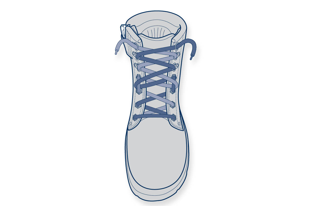 11910 Steelblue Lacing Guide – Shallow Instep