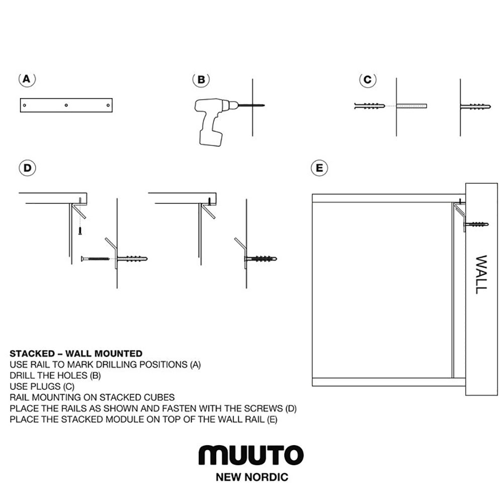 top3 by design muuto new nordic muuto stacked wall bracket back. Black Bedroom Furniture Sets. Home Design Ideas