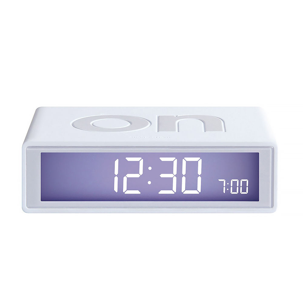 top3 by design lexon lexon flip clock white. Black Bedroom Furniture Sets. Home Design Ideas