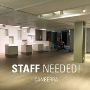 Staff needed for new Canberra Store news from top3 by design