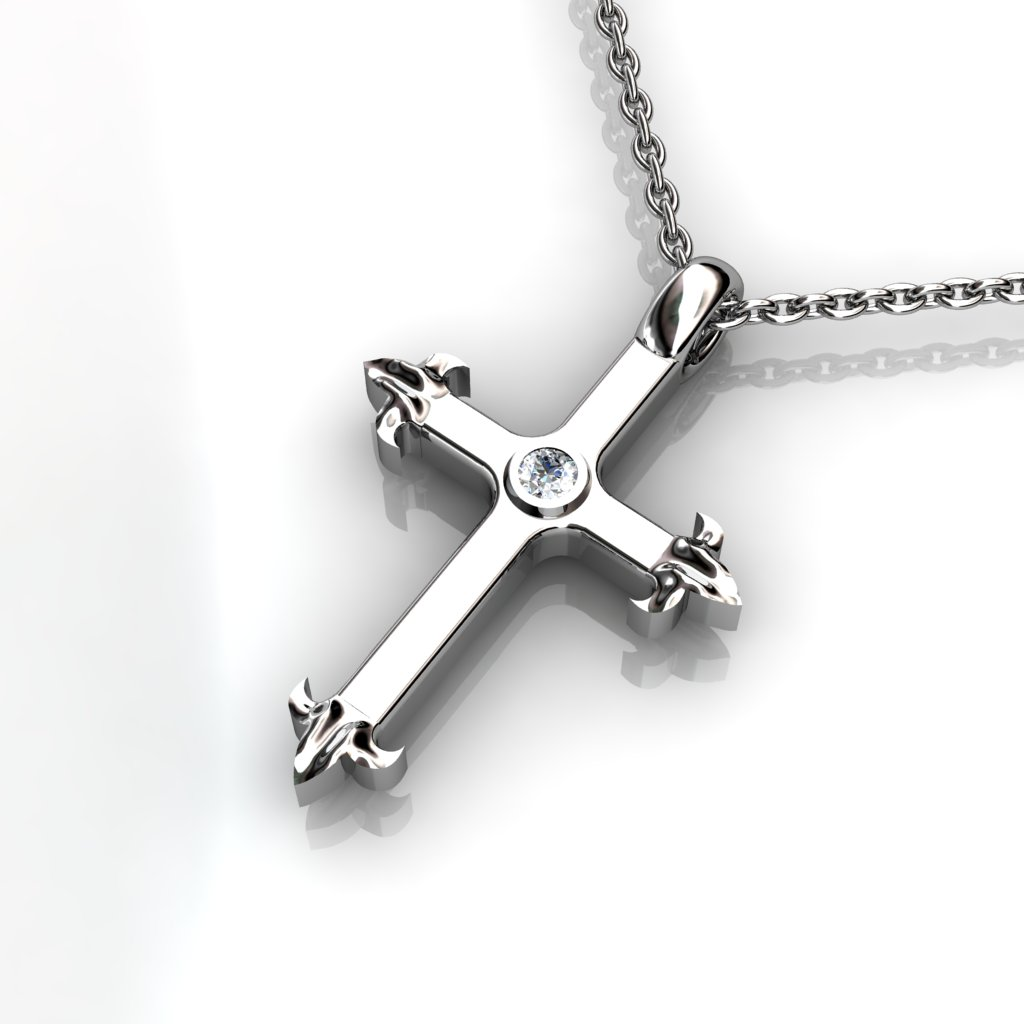 Must have clean cross Image3Description for everyday wear. This pendant is 2cm long, 2.5mm thick and weight slightly above 5.20 grams, something you wouldn't find for this price.</p>\nVery solidly made out of sterling silver and the shine will last long due to the rhodium plating over it.</p>\nThis is a perfect valentine day gift. Order this before you miss out!</span></p>\nShipping to Melbourne, Sydney, Perth, Brisbane, Adelaide, Gold Coast, Hobart, Darwin.\nImage4Description :  White Topaz\nIm
