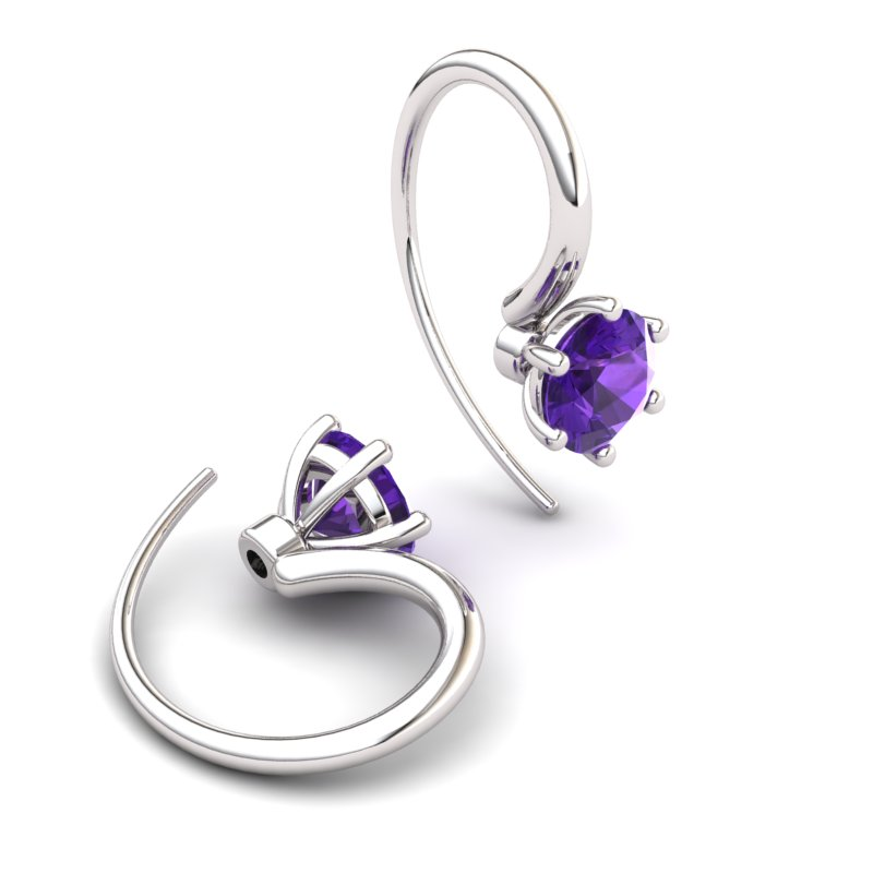 Amethyst Ice Queen Hook Earrings_image1