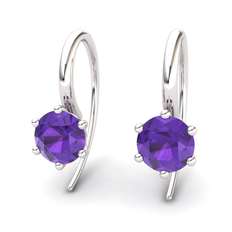 Amethyst Ice Queen Hook Earrings_image2