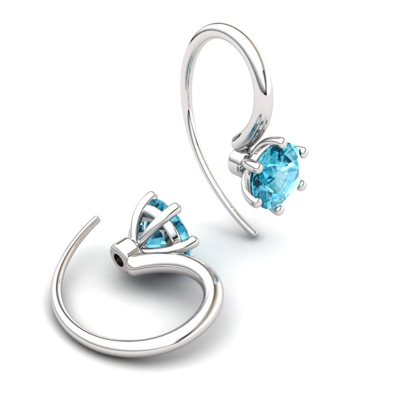 Blue Topaz Ice Queen Hook Earrings_image1
