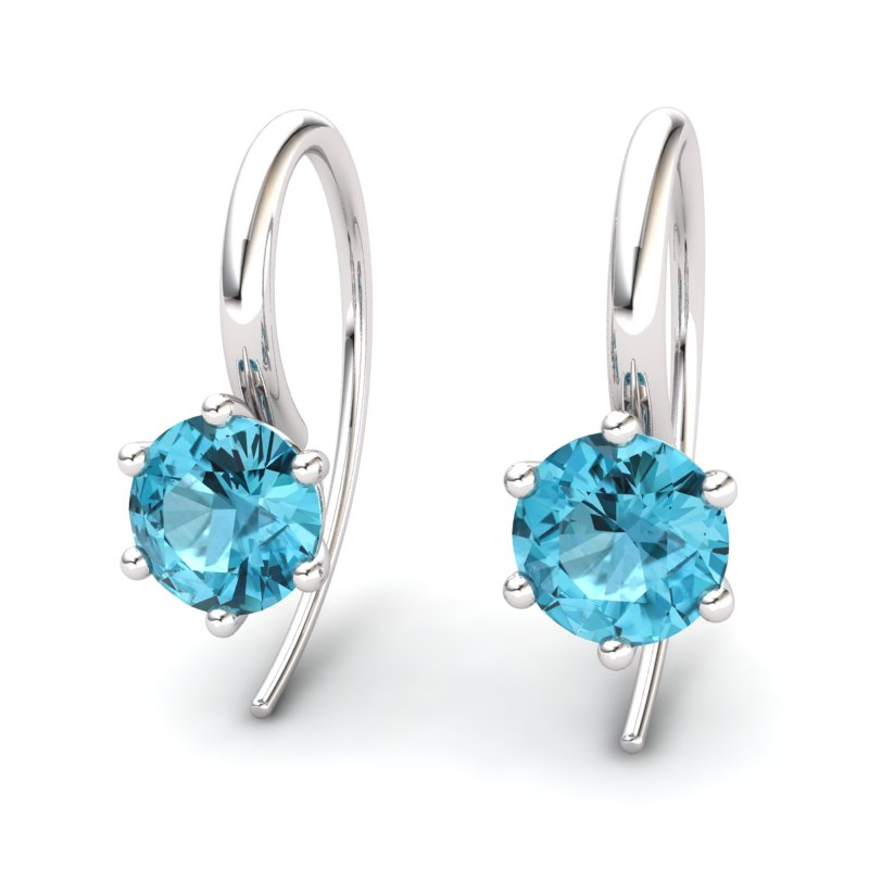 Blue Topaz Ice Queen Hook Earrings_image2