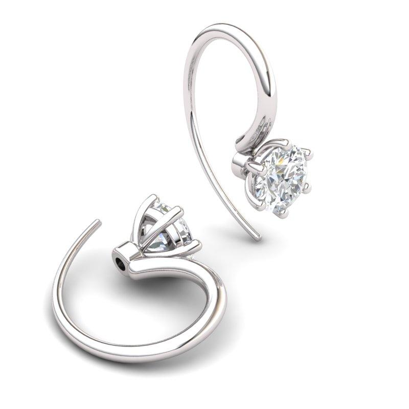 White Topaz Ice Queen Hook Earrings_image1
