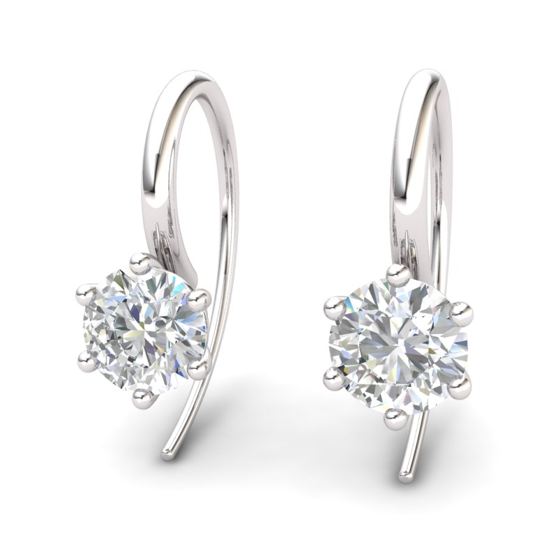 White Topaz Ice Queen Hook Earrings_image2